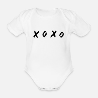 Bio LE T-SHIRT DE MODE - XOXO HUGS & KISSES - Body Bébé bio manches courtes