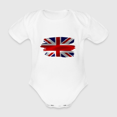 British - English flag - Organic Short-sleeved Baby Bodysuit
