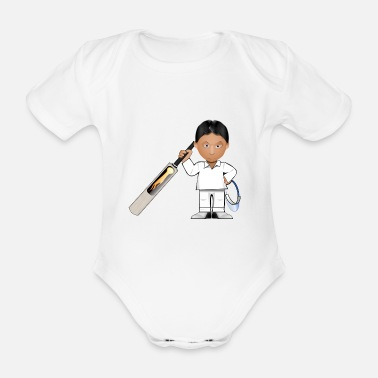 Cricket cricket player - Organic Short-sleeved Baby Bodysuit