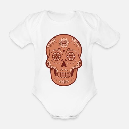 auf Füßen Bilder von zuverlässiger Ruf retro Sugar Skull / Totenkopf Baby Bio Kurzarmbody | Spreadshirt