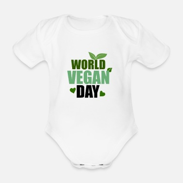 Träd World Vegan Day Plant Tree Vegetarian - Ekologisk kortärmad babybody