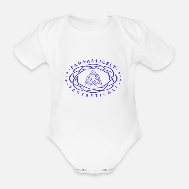 Mystical FANTASTICELT KNOTS PURPLE - Organic Short-Sleeved Baby Bodysuit