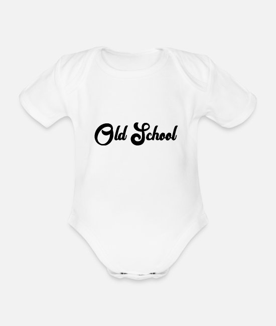 Design Baby Bodys - Old School - Baby Bio Kurzarmbody Weiß