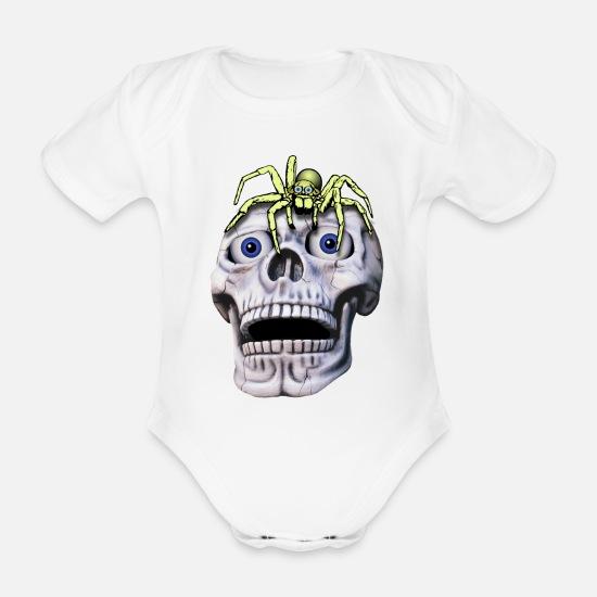 Räumungspreis genießen Qualität und Quantität zugesichert suche nach original totenkopf und spinne Baby Bio-Kurzarm-Body - Weiß