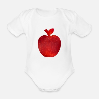 Apple Apple apple - Organic Short-Sleeved Baby Bodysuit
