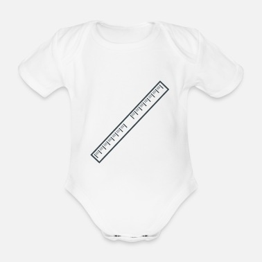 Ruler ruler - Organic Short-Sleeved Baby Bodysuit