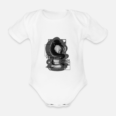 Mare Springer (horse) at the chess - Organic Short-Sleeved Baby Bodysuit