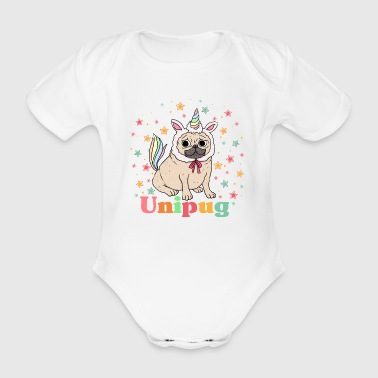 unipug graphic - Organic Short-sleeved Baby Bodysuit