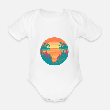 Tropical Tropical sunset - Organic Short-Sleeved Baby Bodysuit