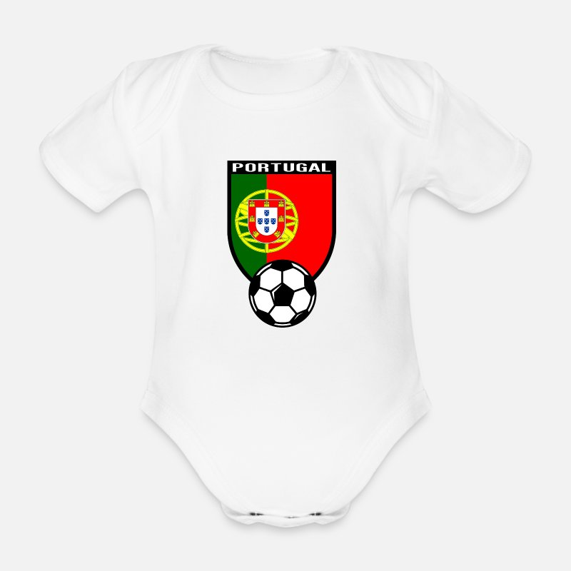 Football Vêtements Bébé - Portugal maillot de fan de foot 2016 - Body manches courtes Bébé blanc