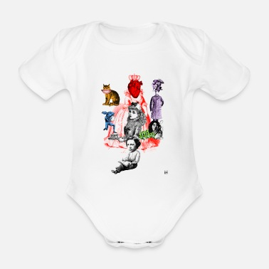 Alice In Wonderland Alice in Wonderland - Baby bio-rompertje met korte mouwen