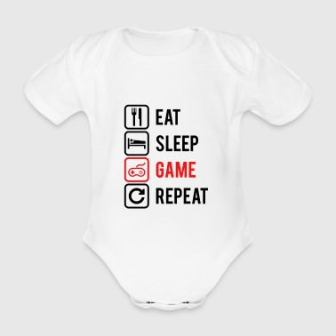 REPEAT GAMING - Ekologisk kortärmad babybody