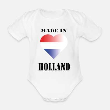 Holland made in HOLLAND - Baby bio-rompertje met korte mouwen