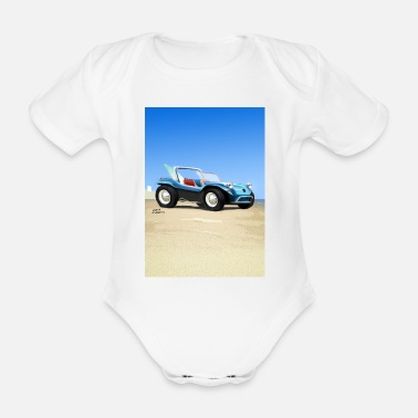 Buggies Sand Buggy - Organic Short-Sleeved Baby Bodysuit