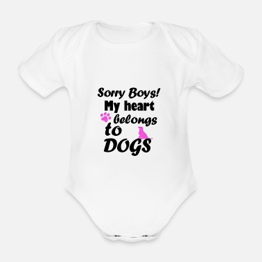 Cute Pets Dog cute pet gift - Organic Short-Sleeved Baby Bodysuit