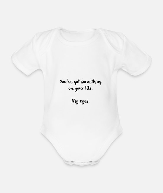 Rest Baby Bodysuits - Naughty Attack Women Men Flirt Sexy - Organic Short-Sleeved Baby Bodysuit white