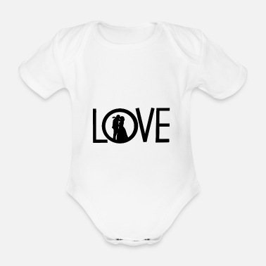 Wedding Contest Love - Organic Short-Sleeved Baby Bodysuit