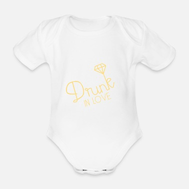drunk in love - Organic Short-Sleeved Baby Bodysuit