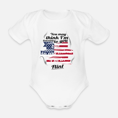 Flint THERAPY HOLIDAY AMERICA USA TRAVEL Flint - Organic Short-Sleeved Baby Bodysuit