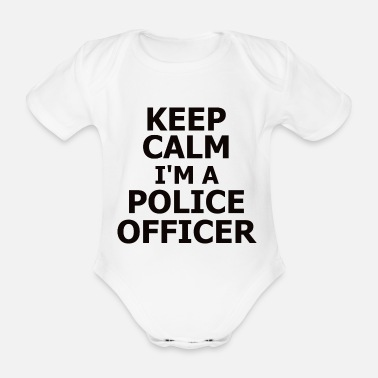 Superstar Policeman Occupation Shirt Gift Idea - Organic Short-sleeved Baby Bodysuit