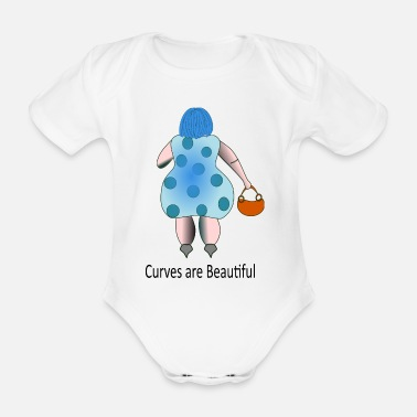 Curves curves - Organic Short-Sleeved Baby Bodysuit