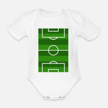 Football Field Football field - Organic Short-Sleeved Baby Bodysuit
