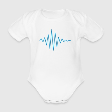 Pulse / soundwave II - Organic Short-sleeved Baby Bodysuit