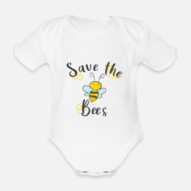 Save the Bees Save the Bees Queen Bee - Organic Short-Sleeved Baby Bodysuit