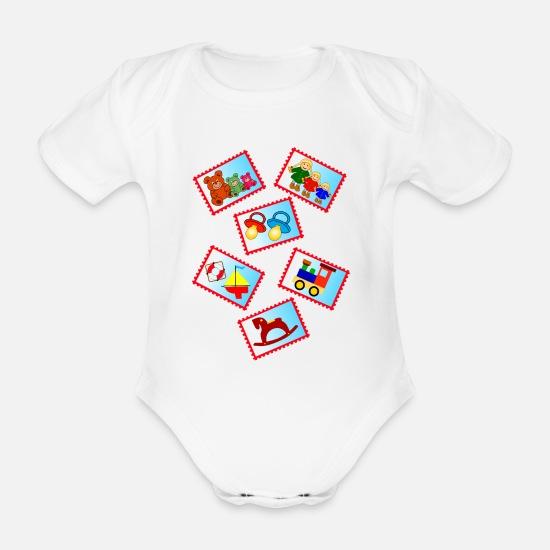 separation shoes ad292 2af45 Marken mit Spielzeug Baby Bio Kurzarmbody | Spreadshirt