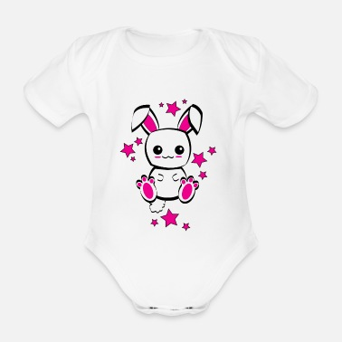 Cute LAPIN MIGNON KAWAII - CUTE RABBIT - Body Bébé bio manches courtes