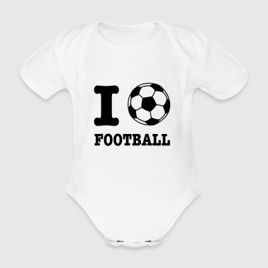 Football I Love Football - Baby Bio-Kurzarm-Body