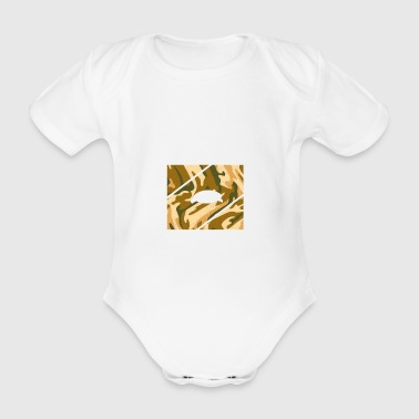 Eye of swaggs camouflage flex - Organic Short-sleeved Baby Bodysuit