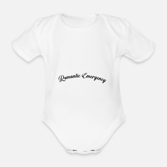 Christmas Baby Clothes - Romantic Emergency - Organic Short-Sleeved Baby Bodysuit white