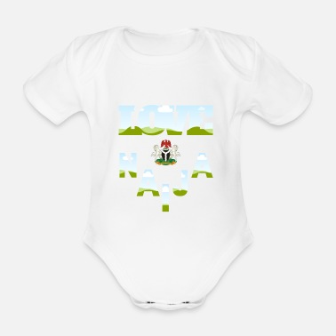 Nigeria Love Naija - Organic Short-sleeved Baby Bodysuit