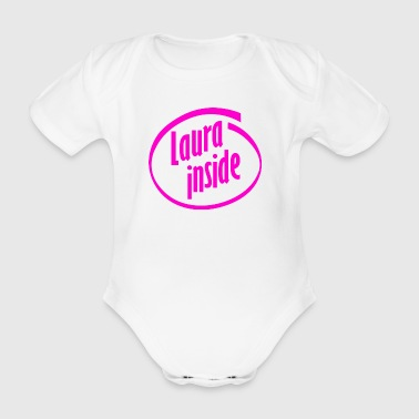 Laura inside - Organic Short-sleeved Baby Bodysuit