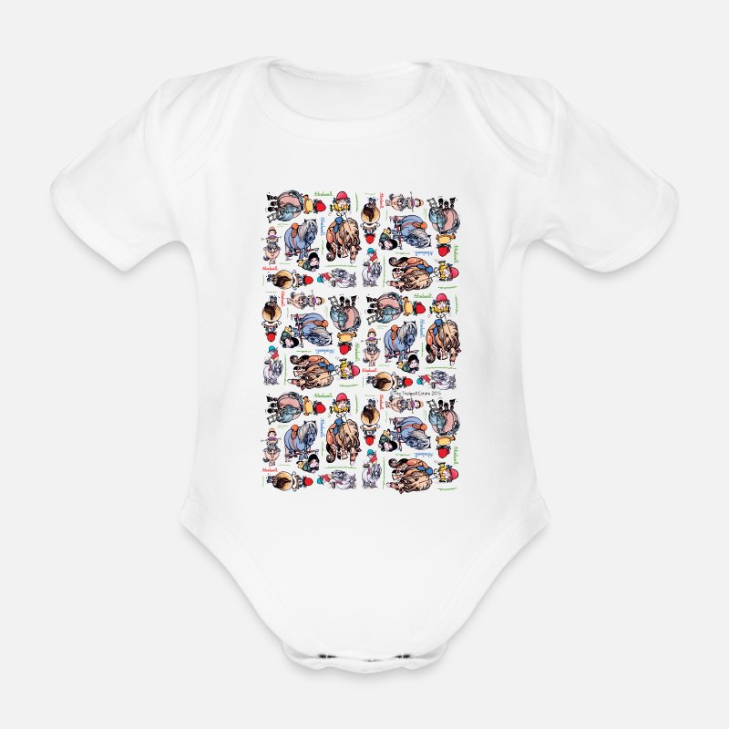 Officialbrands Baby Clothing - PonyCartoons Thelwell Cartoon - Short-Sleeved Baby Bodysuit white