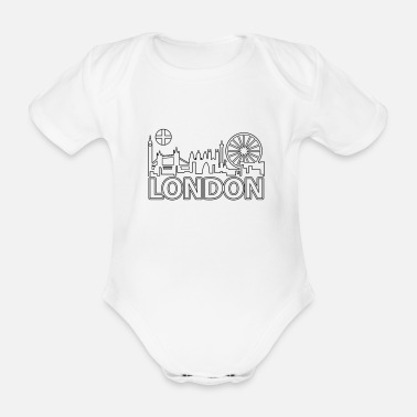 London Stadt Skyline Big Ben Geschenk Shirt Tower - Baby Bio Kurzarmbody