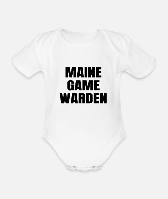 Gamekeeper Baby Bodysuits - Maine Game Warden ME Conservation Officer Gift - Organic Short-Sleeved Baby Bodysuit white