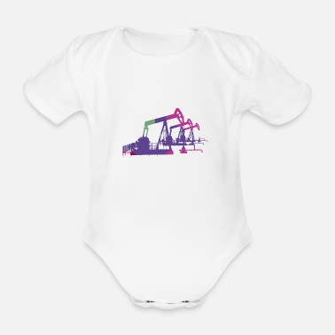 Drill Oil pumps, oil production, oil production, oil - Organic Short-Sleeved Baby Bodysuit