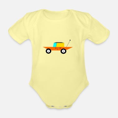 Cars Car, Car - Organic Short-Sleeved Baby Bodysuit