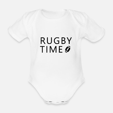 Coach Touch Rugby Football Rugby Gift - Kortærmet babybody, økologisk bomuld
