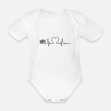 Quotes RHINO HEARTBEAT - Organic Short-sleeved Baby Bodysuit
