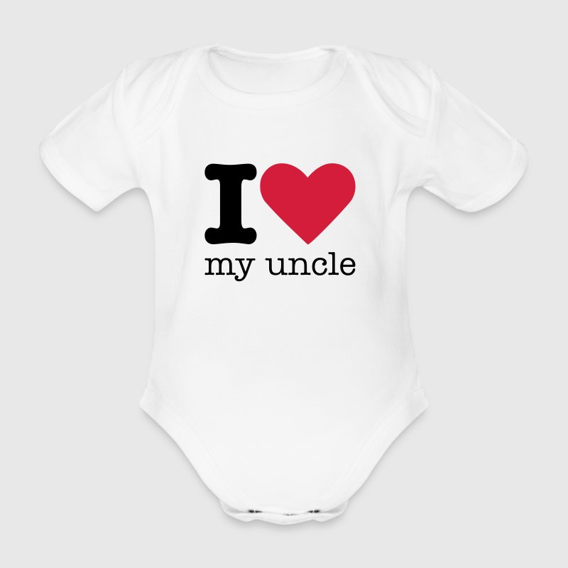 I Love My Uncle - Organic Short-sleeved Baby Bodysuit
