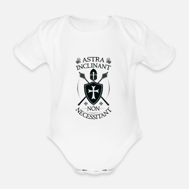 Orders Of Chivalry Crusader Armor + Astra Inclinant Non Necessitant - Organic Short-Sleeved Baby Bodysuit