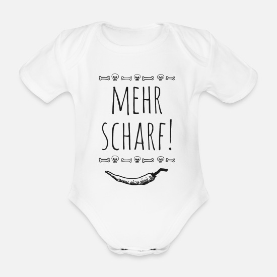 Gift Idea Baby Clothes - With more sharpness - Organic Short-Sleeved Baby Bodysuit white