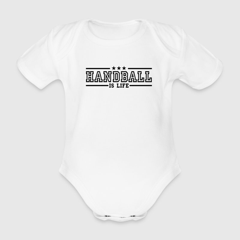 handball is life deluxe - Organic Short-sleeved Baby Bodysuit