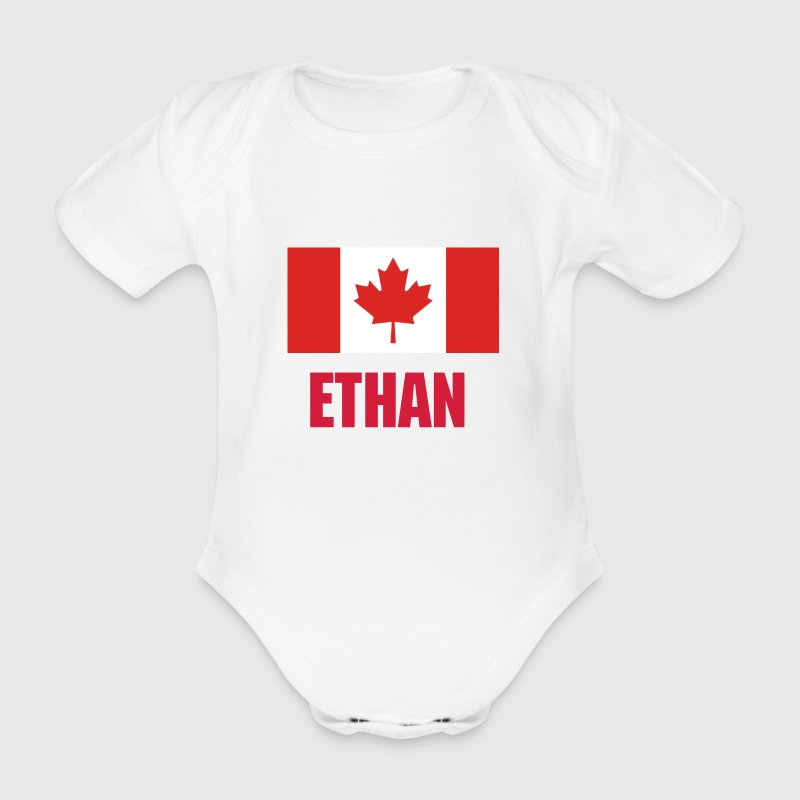 Canada Flag - Organic Short-sleeved Baby Bodysuit