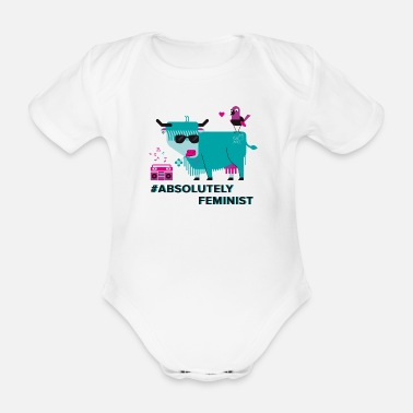 Feminist Absolutely Feminist (div) - Organic Short-sleeved Baby Bodysuit