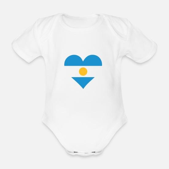 7dd015309 Un corazón para la Argentina Body de manga corta bebé