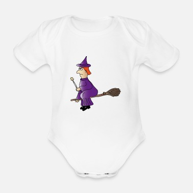 Witch Witch - Organic Short-Sleeved Baby Bodysuit